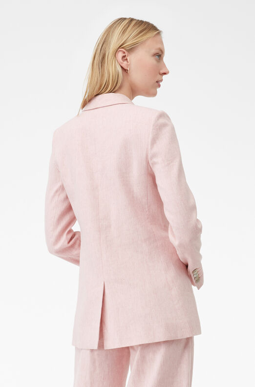 Tailored Slub Suiting Jacket, Rosa, large