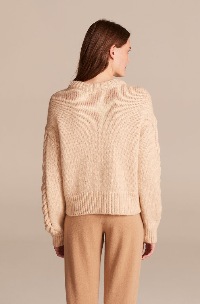 Braided Pullover, Oatmeal, large