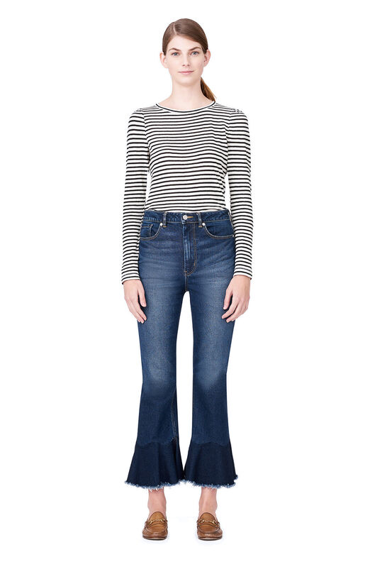 La Vie Ruffle Hem Jean - Blue Midnight Wash