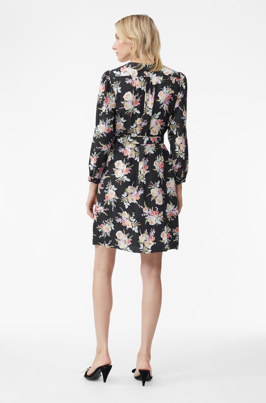 Bouquet Floral Silk Dress