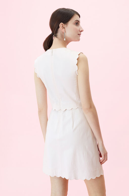 Scalloped Suiting Dress