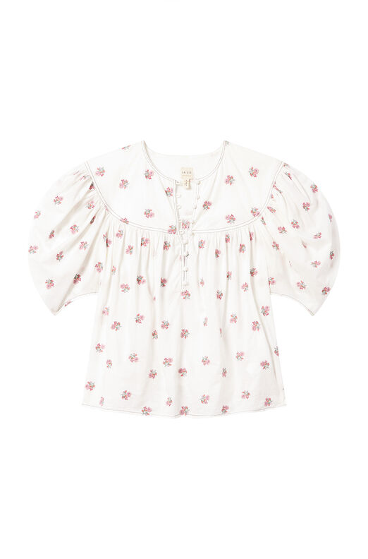 La Vie Harriet Sprig Embroidered Top