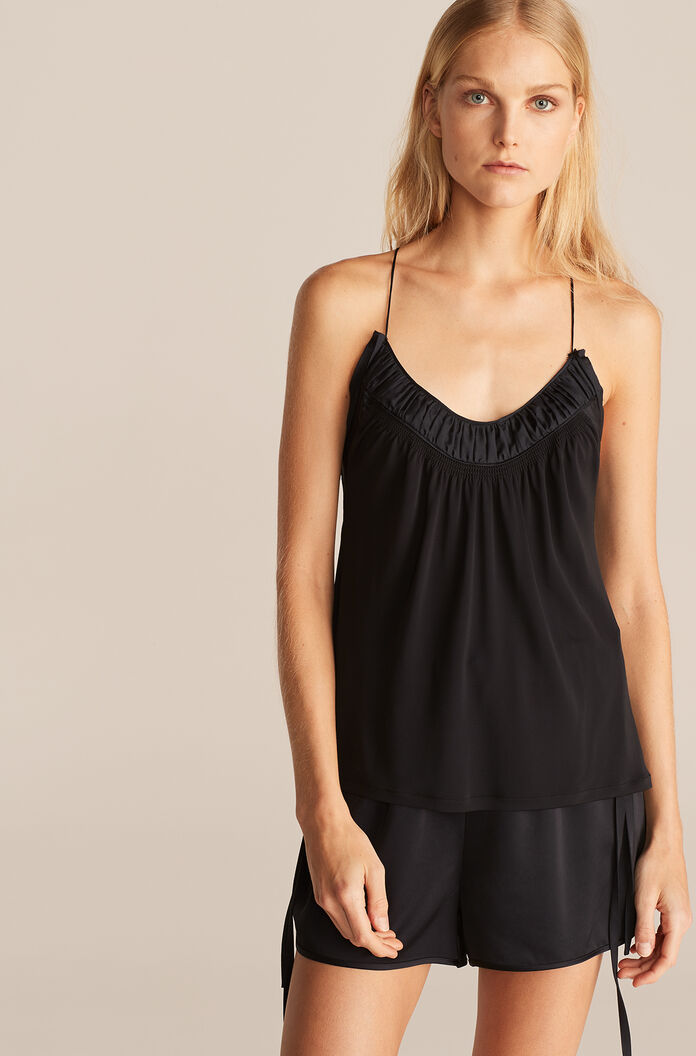 Ruched Top Knit Tank, Night, large