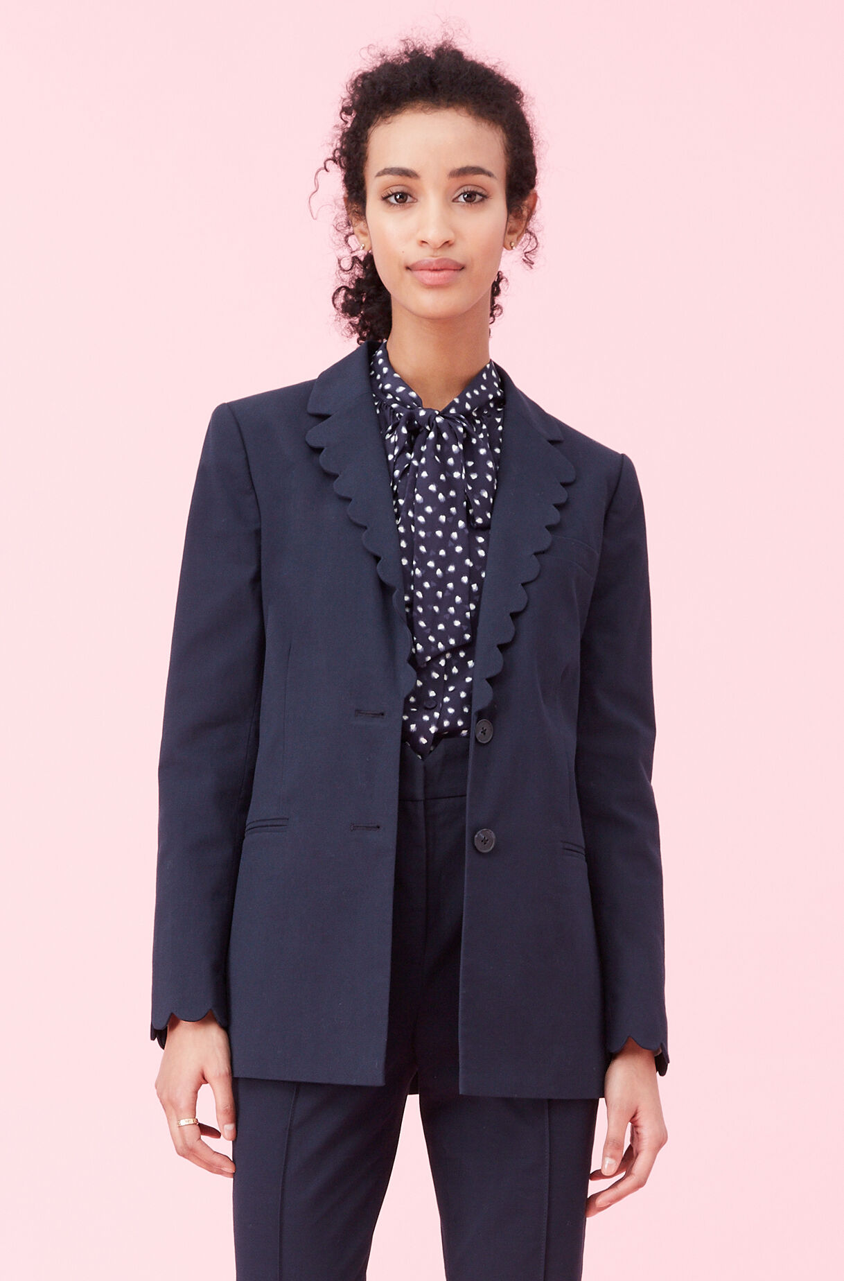 Scalloped Suiting Jacket