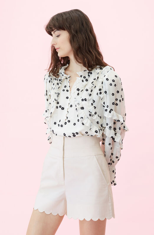 Scalloped Suiting Short