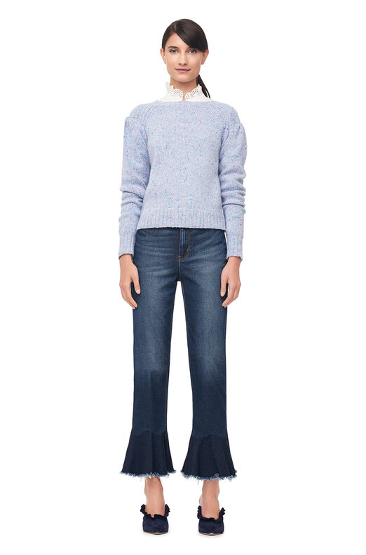 La Vie Donegal Tweed Pullover - Blue Bell