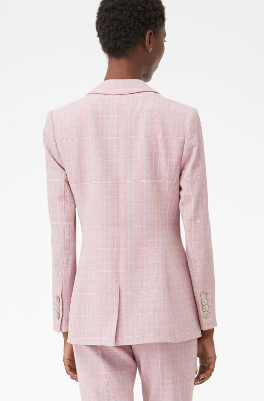 Tailored Rose Plaid Suiting Jacket