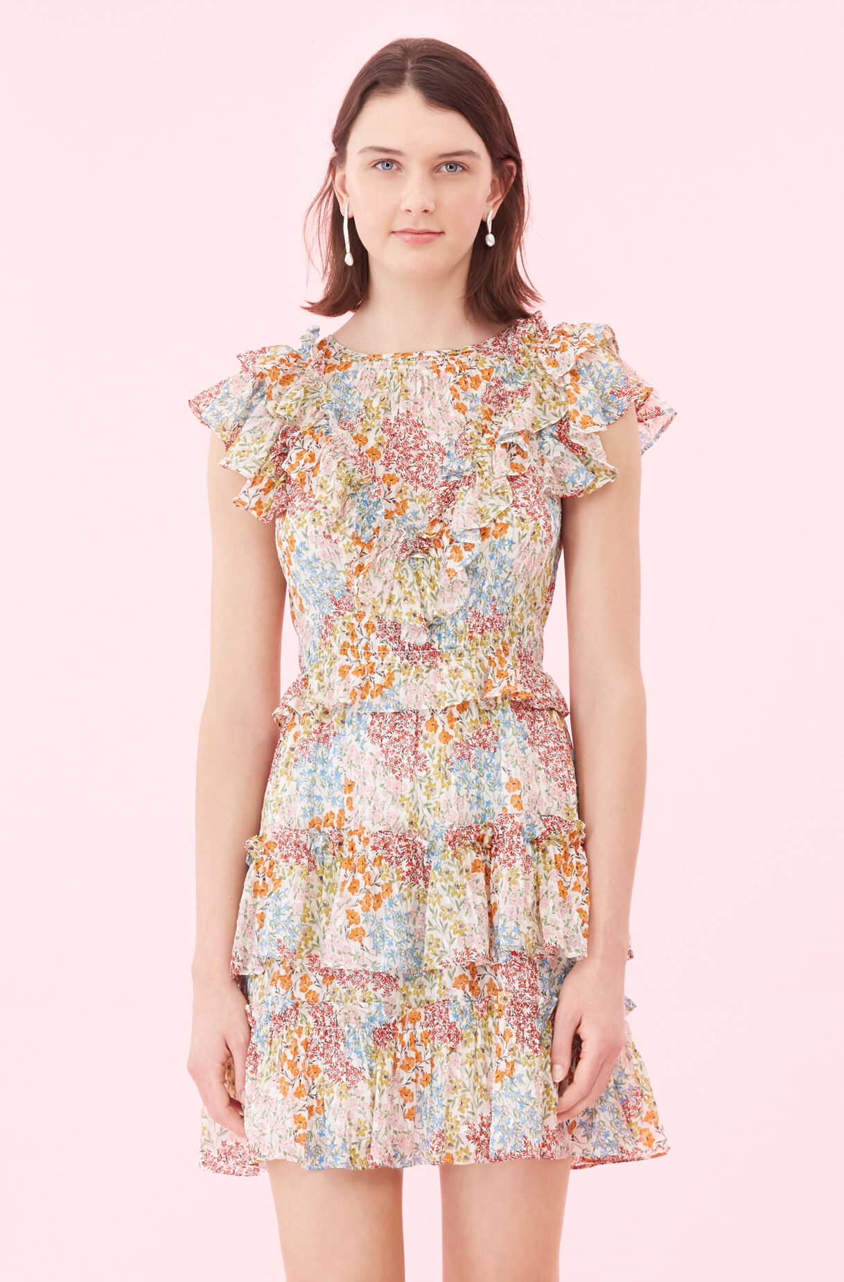 Ava Floral Ruffle Dress