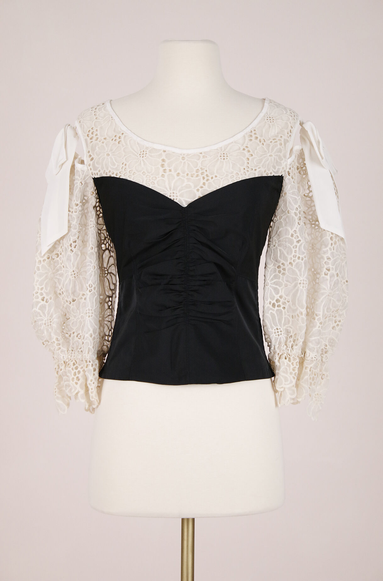 ReCollect Malorie Embroidery & Taffeta Top