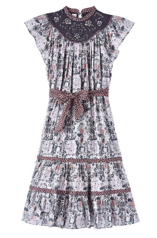 La Vie Indochine Embroidered Dress