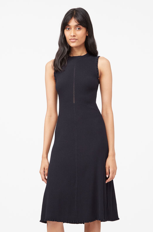 Tailored Matte Stretch Viscose Dress