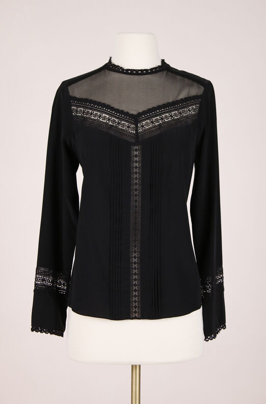 ReCollect Silk & Lace Top