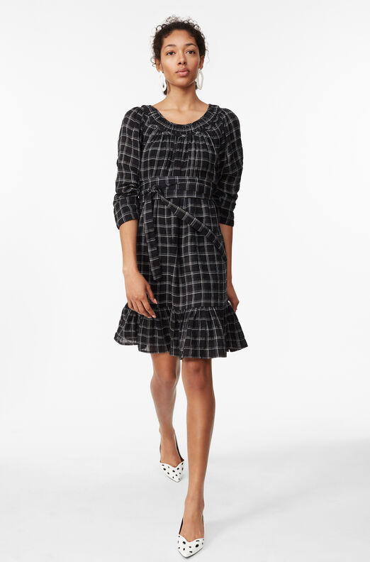La Vie Lurex Plaid Dress