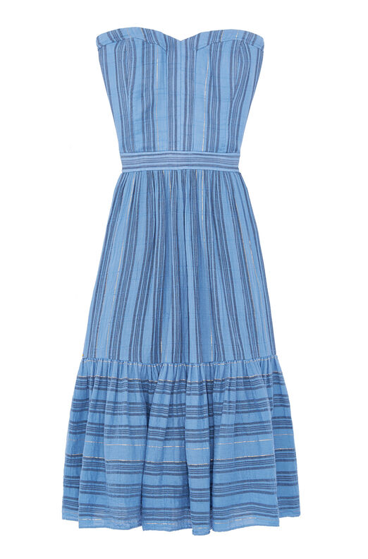 La Vie Gauzy Stripe Dress