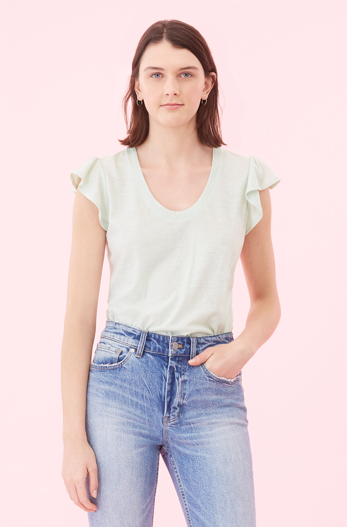 La Vie Washed Textured Jersey Tee