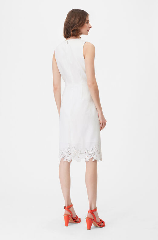 Tailored Eyelet Embroidered Dress