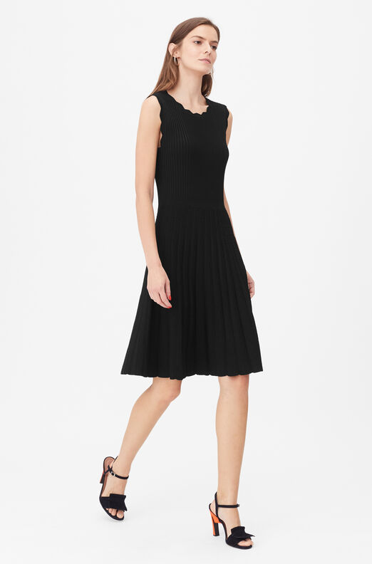 Tailored Stretch Matte Viscose Dress
