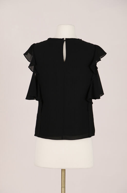 Recollect Ruffled Silk Georgette Top