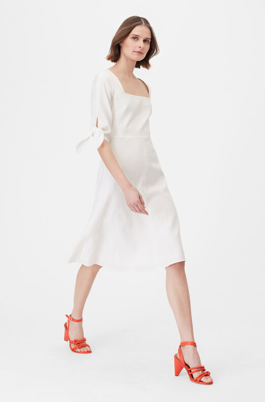 Tailored Stretch Linen Blend Dress