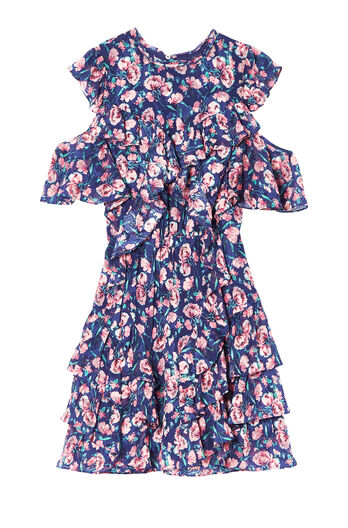 Open-Shoulder Tea Rose Dress