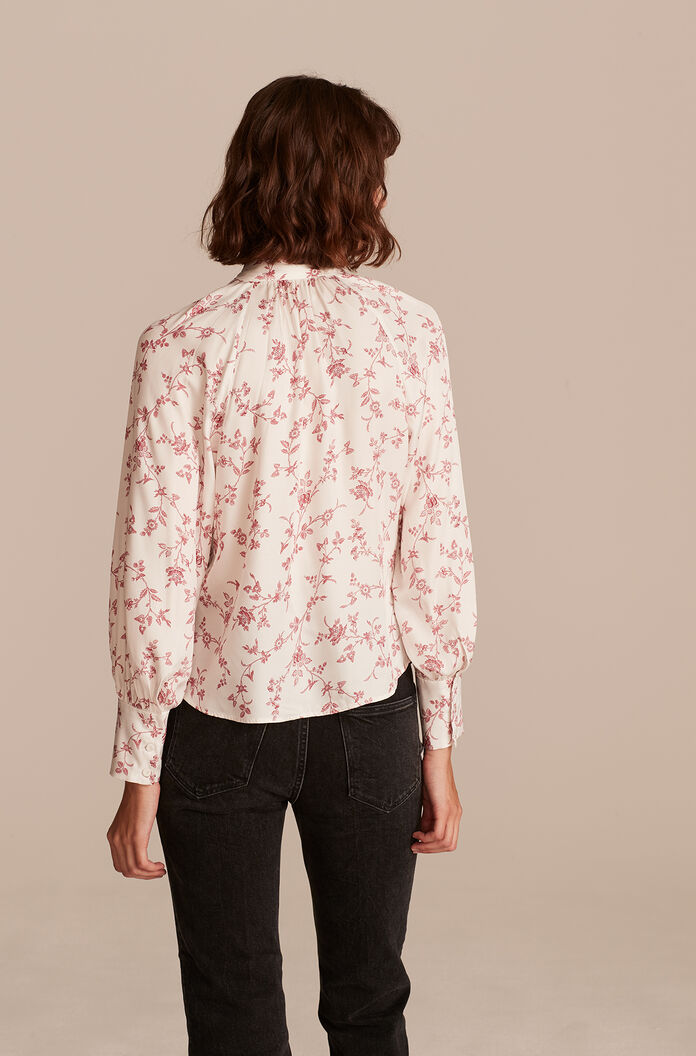 Strawberry Toile Top, Jam Combo, large