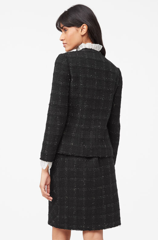 Tailored Textured Tweed Jacket