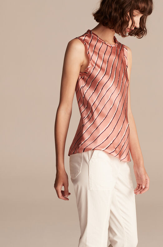 Sophie Stripe Top, Grapefruit Combo, large