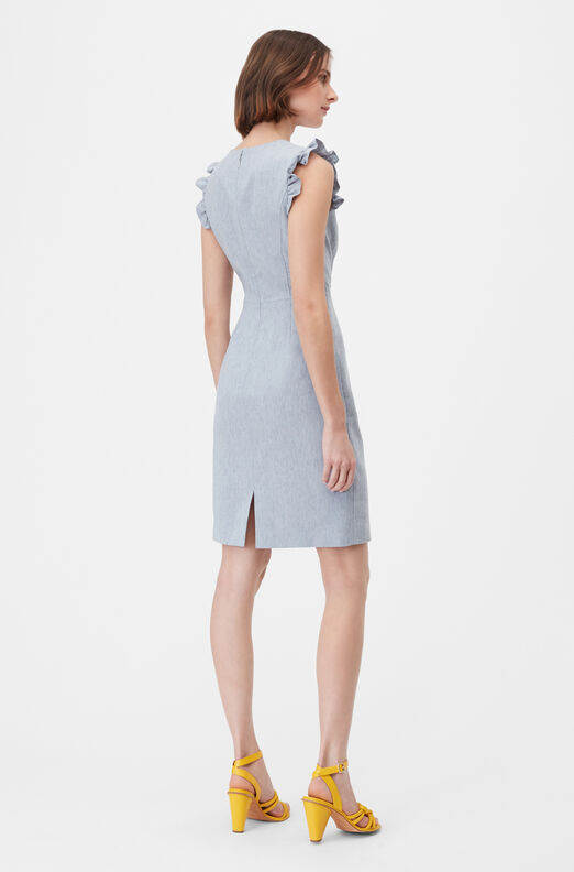 Tailored Sretch Linen Blend Dress
