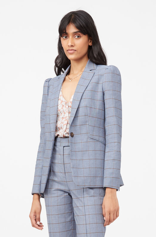 Tailored Windowpane Twill Jacket