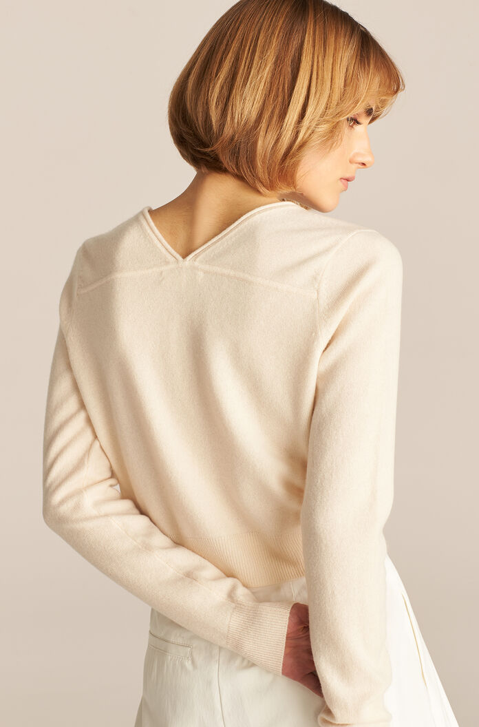 Barely There Cashmere Cardigan, Ivory, large