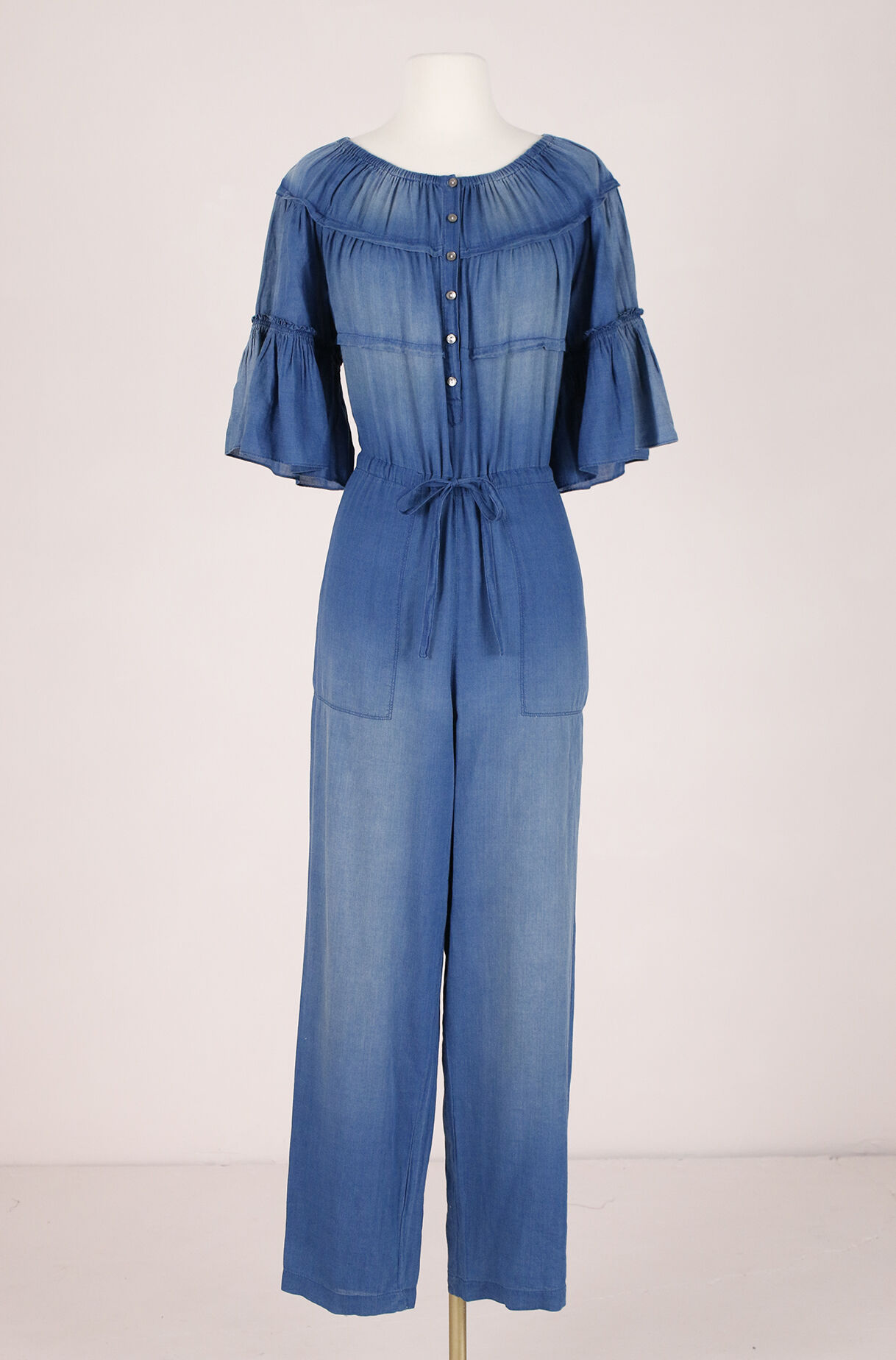 ReCollect La Vie Tissue Denim Jumpsuit