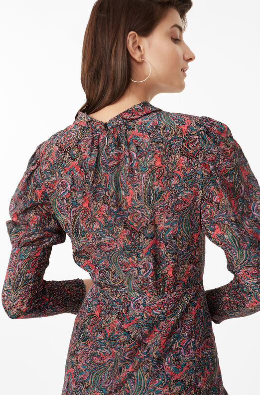 Hudson Paisley Silk Dress