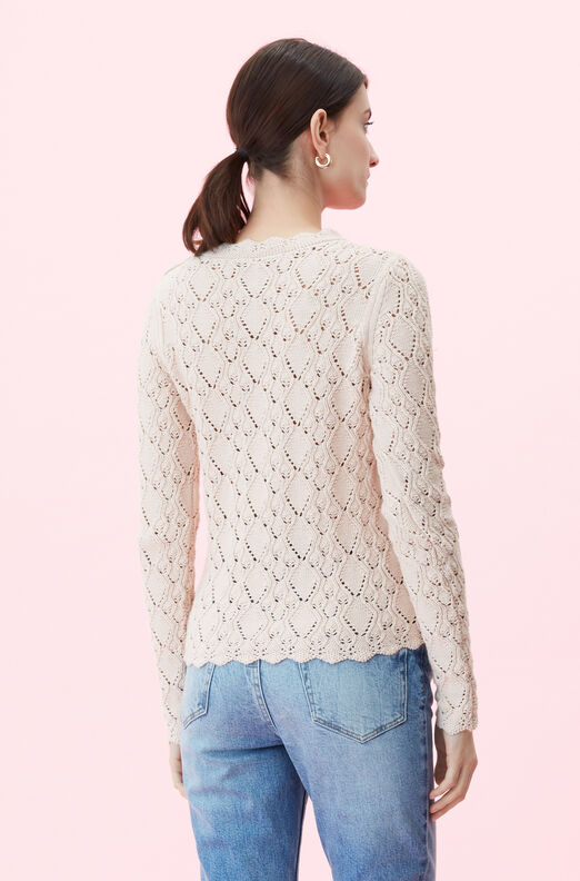 La Vie Diamond Pointelle Pullover