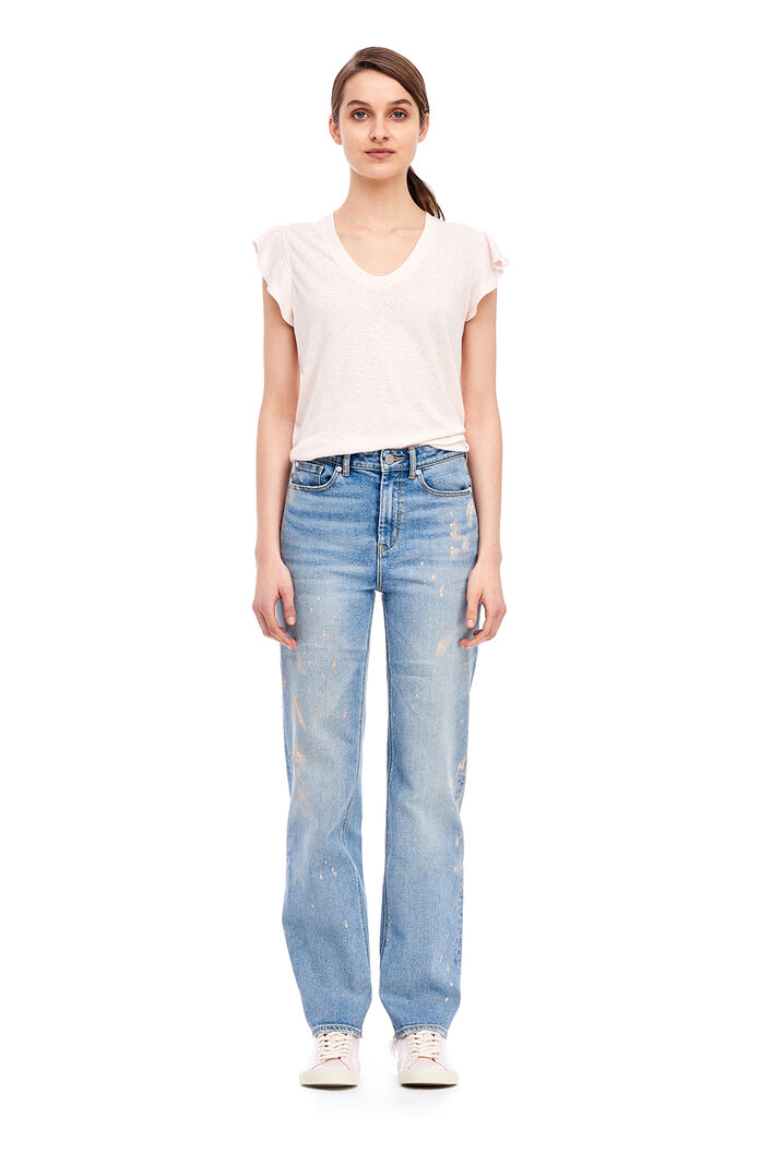 La Vie Washed Textured Tee - Shell Pink