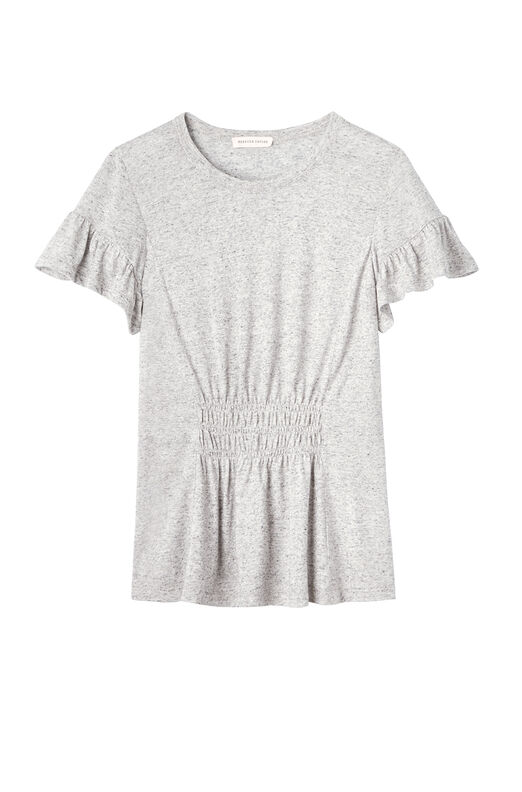 Ruched Jersey Tee