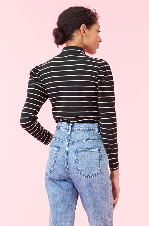 La Vie Yarn Dyed Stripe Jersey Top