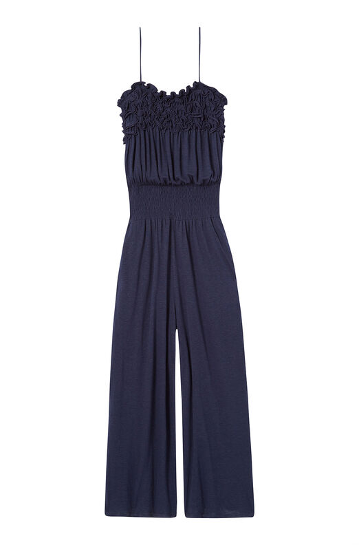 Ruffled Jersey Jumpsuit