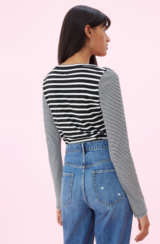 La Vie Yarn Dyed Striped Jersey Tee