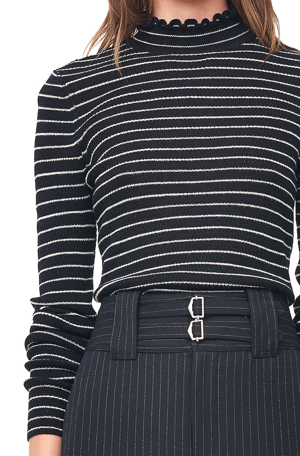 Merino Wool Turtleneck Pullover | Rebecca Taylor