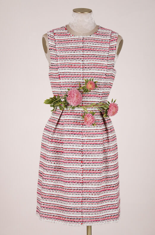 ReCollect Sleeveless Optic Tweed Dress