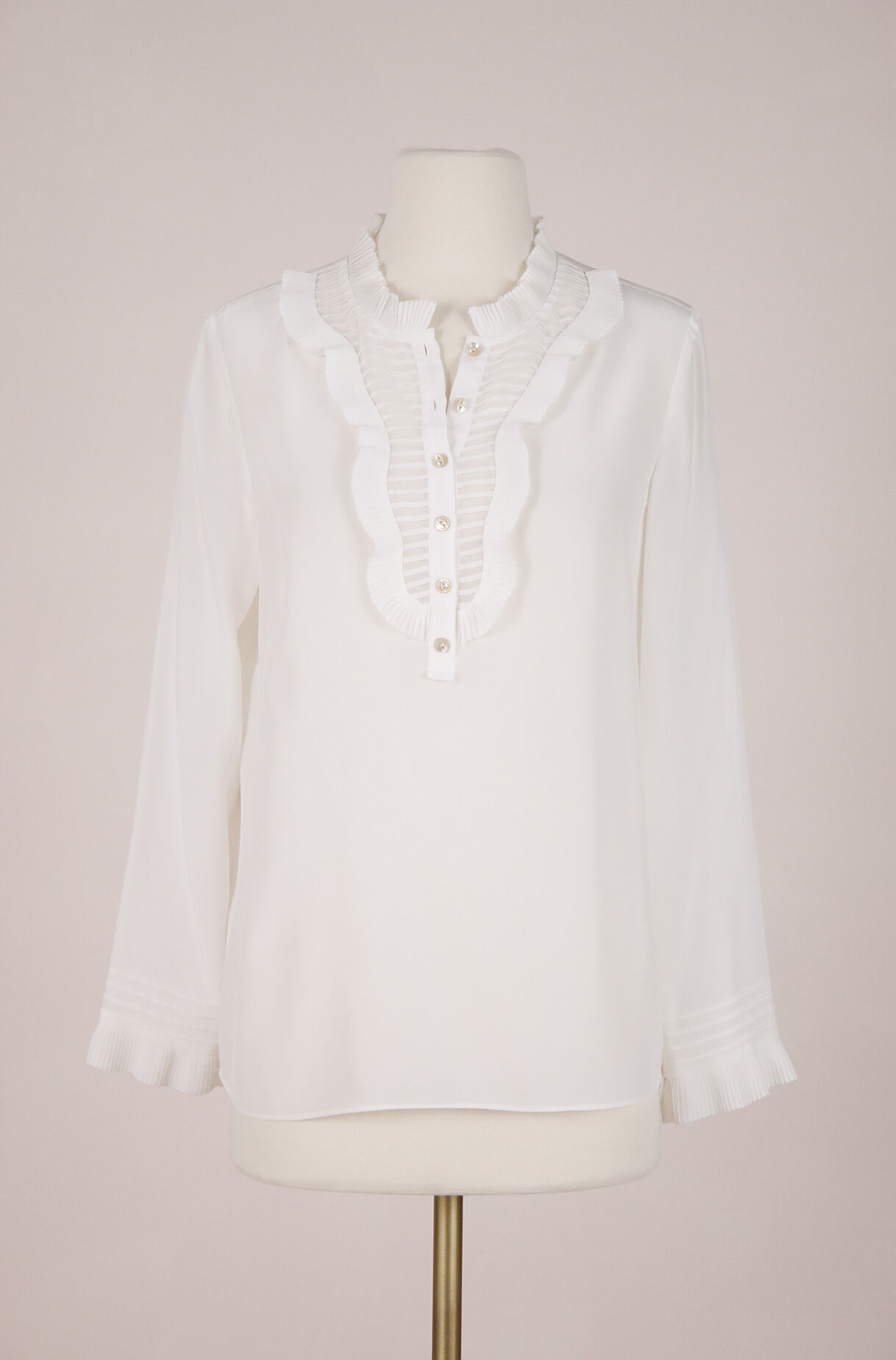 ReCollect Pleated Silk Top