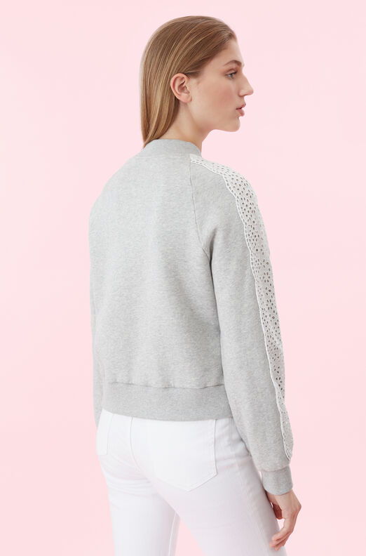La Vie Eyelet Fleece Sweatshirt