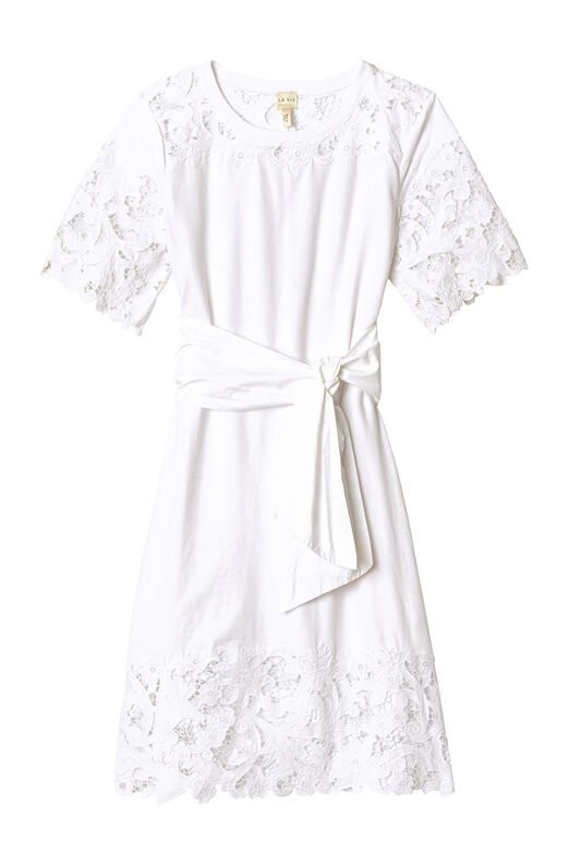 La Vie Embroidered Clean Jersey Dress