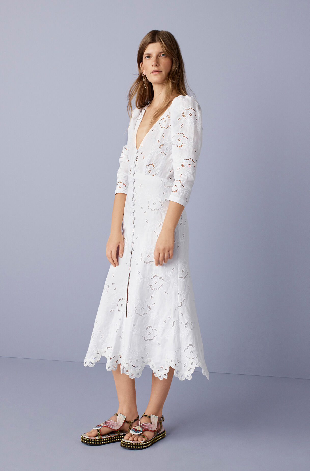 a0ae50be678 ... Terri Embroidered V-Neck Dress ...