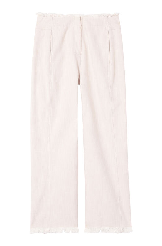 Slub Suiting Wide Leg Crop Pant