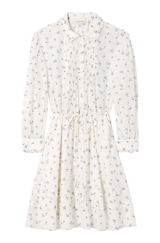 Spring Floral Voile Shirtdress