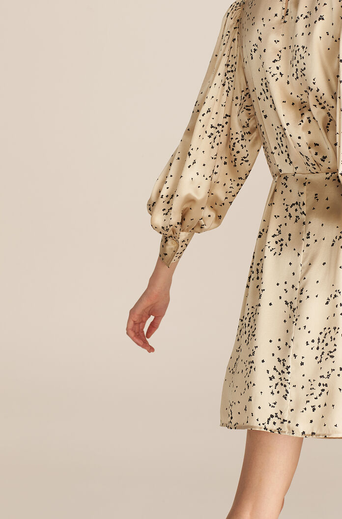 Scattered Fleur Dress, Champagne Combo, large