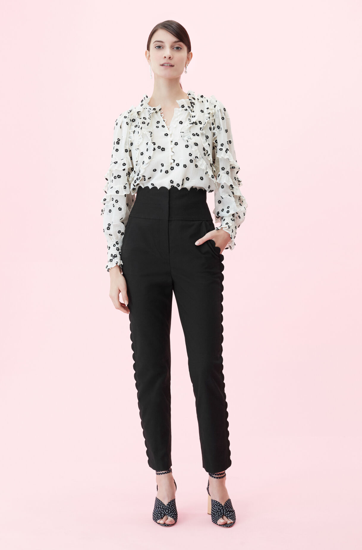 Scalloped Suiting Pant, , large