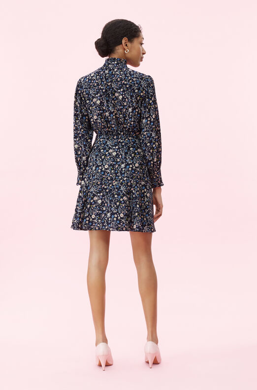Vivianna Vine Jacquard Silk Dress