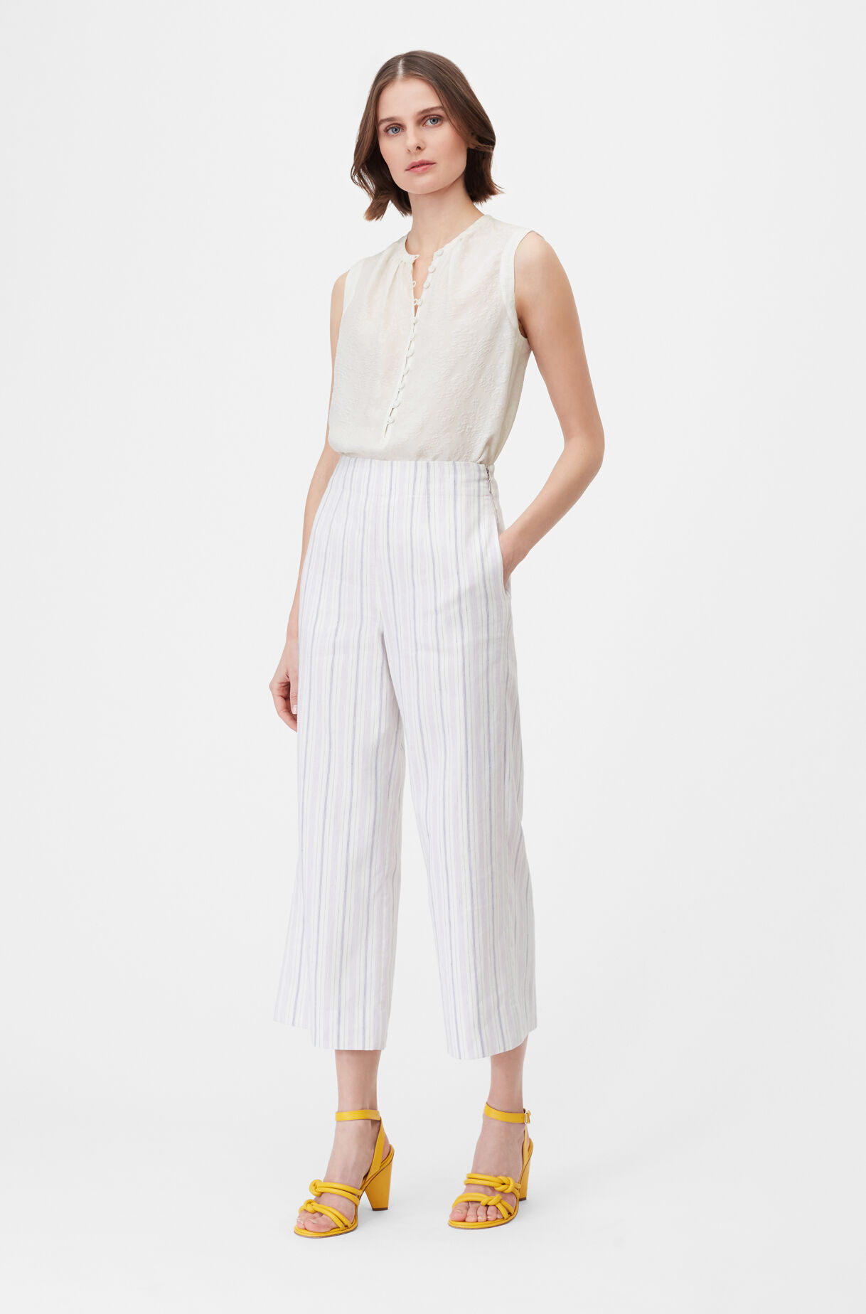 Tailored Stripe Suiting Pant, , large
